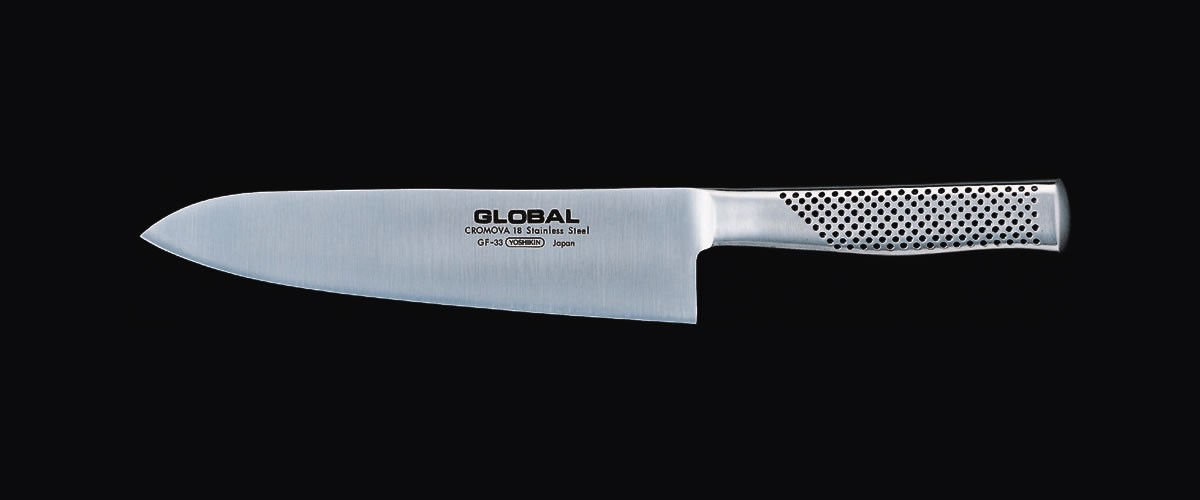 Cuchillo de cocinero forjado Global. 210 mm